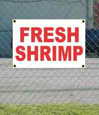 2x3 FRESH SHRIMP Red & White Banner Sign NEW Discount Size Price FREE SHIP