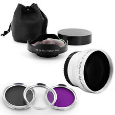 Extreme .3x Wide Fisheye Skateboard Lens + Tele + Filters fo Sony 37mm camcorder