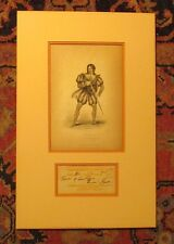 *WORLD'S GREATEST ACTOR EDMUND KEAN AUTOGRAPHED 1820 THEATRE PASS DISPLAY*