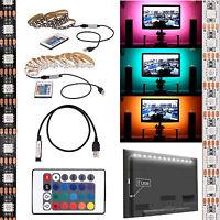 5V 5050 RGB LED Strip Light Bar TV Background Lighting Kit + USB Remote Control