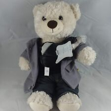 Build A Bear Cream Bear with Complete Outfit and Guitar Joe Boxer EUC FREE SHIP!