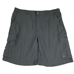Columbia Cargo Shorts Mens W 38 L 10 Gray Omni-Shade Lightweight Hiking Camping