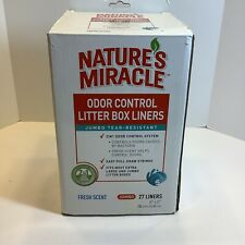 Nature's Miracle Odor Control Jumbo Litter Box Liners, 27 Count, New
