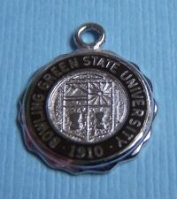 University Ohio sterling charm Vintage Bowling Green State