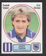 Panini - Football 82 - # 298 Gary Owen - West Bromwich Albion
