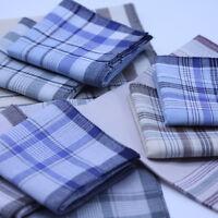 1/5Pcs Old Man Handkerchiefs 100% Cotton Pocket Square Hanky Handkerchief