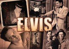 Many Pictures of Elvis Presley, Sepia Collage, Parents, Graceland etc - Postcard