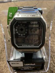 Casio AE1200WHD-1AV Digital Watch Chronograph Alarm World Time 10 Yr Battery
