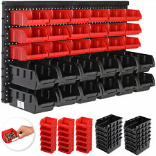 DEUBA® Stapelboxen Wandregal 32tlg Box Sichtlagerkästen Werkstatt Lagersystem