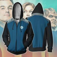 The Orville Ed Men Hoodie Sweatshirt Cosplay Costume Zip up Jacket Coat SIZE 5XL