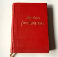 Guide voyage BAEDEKER SOUTHERN ITALY and SICILY 1912