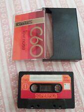 SUPERPILA C60 Vintage Blank Cassette Audio Tape NUOVA mai usata ma NON SIGILLATA