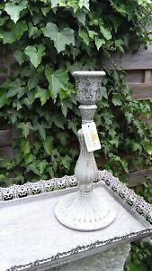 Kerzenleuchter Clayre&Eef Kerzenhalter Leuchter Grau Shabby Chic Landhaus❤
