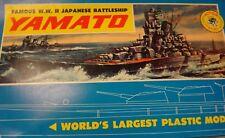 "BIG! Paramount Yamato Plastic Model Kit-Original Box-Unbuilt-Complete 41.7"" Long"