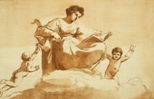 257 year old Guercino by William Ryland original aquatint etching; Clio 1763