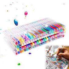 100 Colors Gel Art Pens Glitter Neon Metallic Ballpoint Craft Drawing Marker UK