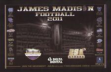 James Madison Dukes--2011 Football Magnet Schedule--Bridgeforth Stadium