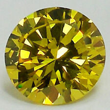 TWO pcs - 6.mm Yellow Russian Sim Diamond BRILLIANT CUT 0.8 Carat Citrine