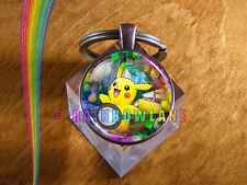 Handmade Pokemon Pikachu Pokeball Keychain Car Key Chain Key Ring Toys Gift