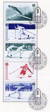 SWEDEN SOUVENIR FOLDER WORLD SKI CHAMPIONSHIPS 1974 CANCELLED