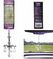 Decorative mini chandelier w crystals rear view mirror ornament car decorative mini chandelier w crystals rear view mirror ornament car accessory aloadofball Image collections