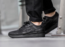 New ASICS UnisexTrainers/ GEL-LYTE III / Sport Shoes/Black/Sneakers/leather/ £90