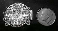 Jewelry clasp sterling silver plated brass oval 4 str filigree pad clasp fpc161