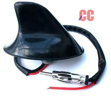 Functional car shark fin aerial earial antenna AMPLIFIED bolt through roof style
