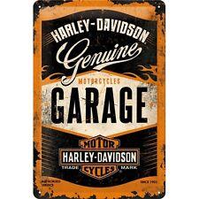 HARLEY DAVIDSON GARAGE * MOTORRAD * BLECHSCHILD * NOSTALGIE * 20X30 * NEU!