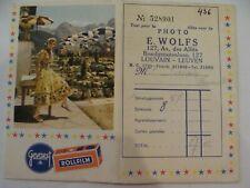 Studio-Photo E. WOLFS - 127 Av des Alliés - LOUVAIN - GEVAERT - Pochette Négatif