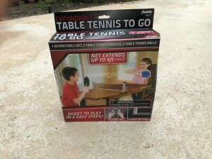 Franklin Table Tennis To Go Ping Pong Ages 7+ New