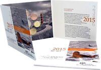 Niederlande Euro KMS Wattenmeer 2015 Stempelglanz 1 Cent bis 2 Euro im Folder