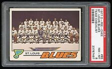 1977 OPC #85 St Louis Blues Checklist PSA 8