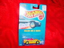 HOT WHEELS #172 MAZDA MX-5 MIATA NEON GREEN RIMS BLUE CARD FREE SHIP USA