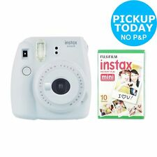 Fujifilm instax Mini 9 Instant Camera with 10 shots Built in Flash - Smoky White