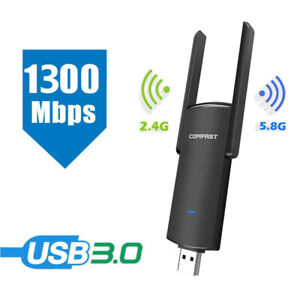 1300Mbps USB WiFi Adapter Wireless Network Adapter For Windows 7 8 10/MAC