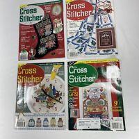Lot of 4 The Cross Stitcher Magazine 95, 96, 2000 Cross Stitch Stocking And More