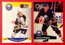 89/90 Alexander Mogilny  90/91 Benoit Hogue  Buffalo Sabres NHL Lo# Hockey Cards