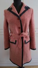 DOLCE AND GABBANA LANA MOHAIR TWEED MAC COAT D&G Trench Giacca IT 28/42 UK10EU36