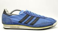 Adidas 3 Stripes Blue Leather Casual Athletic Lace Up Sneakers Shoes Men's 10.5