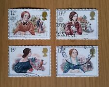 Complete GB used stamp set - 1980 Famous Authoresses