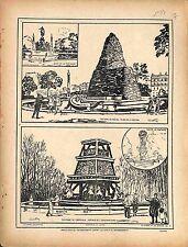Protection Paris Fontaine de Dalou Place de la Nation/ de Carpeaux  1917 WWI