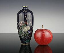 Feine japanische Cloisonne Vase um 1890 Meiji Silberdraht Japan