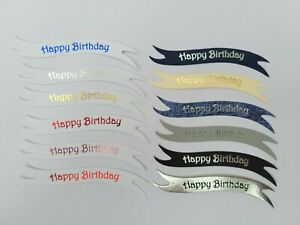 Multi pack 120 Happy Birthday die cut banners card toppers embellishments