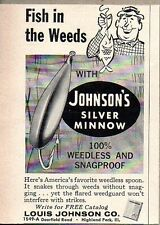 1960 Print Ad Johnson Silver Minnow Fishing Spoon Lures Highland Park,IL