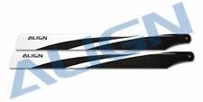 Align Trex 450 360 3G Carbon Fiber Blades HD360A (Black & White)