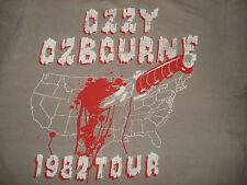 Vintage 1980s OZZY OSBOURNE BURNOUT CONCERT T SHIRT 1982 Tour Black Sabbath M