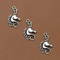 Lots Tibet Silver Unicorn Horse Charm Pendants Beads DIY Jewelry Making Decor