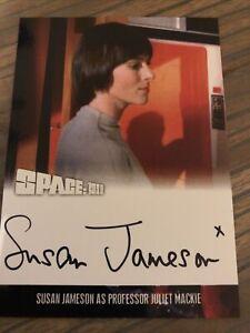 Space 1999 Series 4 Susan Jameson As Professor Juliet Mackie Autograph Card SJ2
