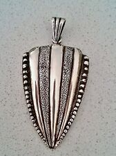 Vintage RETRO Sterling Silver Large SPEAR-HEAD Unisex Pendant